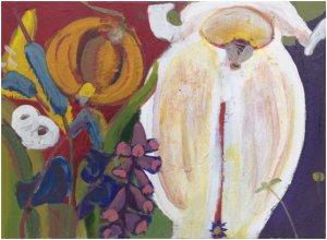 Flower, Acrylic on Canvas, John Albert Duigenan